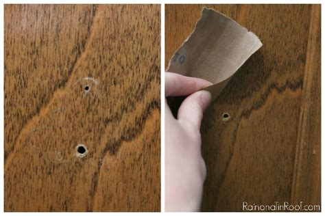 filling holes in cabinet doors how to cover hardware holes