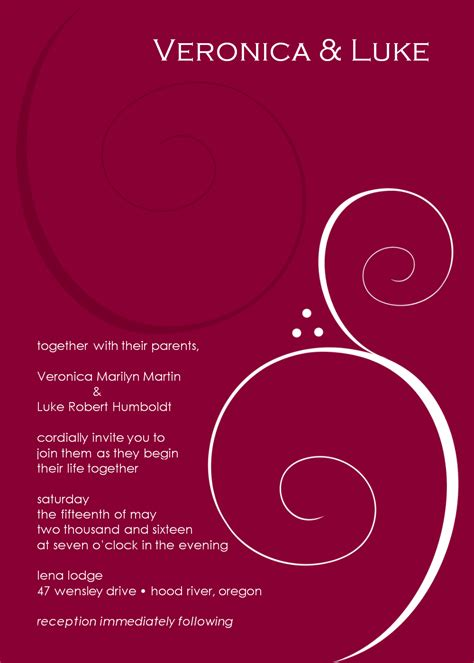 wedding invitation mail templates burgundy wedding invitation