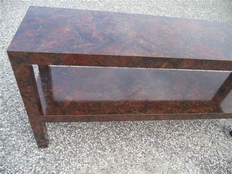 Tortoise Shell Table L by Parsons Sofa Table With Faux Tortoise Shell Laminate For