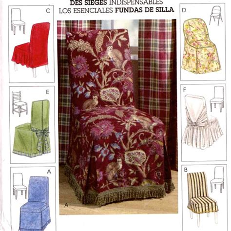 decor chair covers home decor sewing pattern mccalls by
