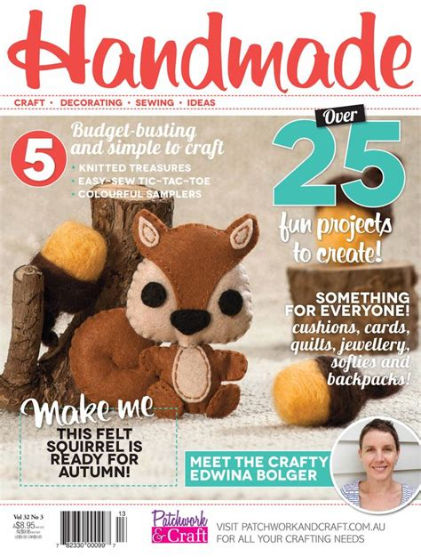 Handmade Magazine Back Issues - handmade magazine volume 32 no 3 australia s top