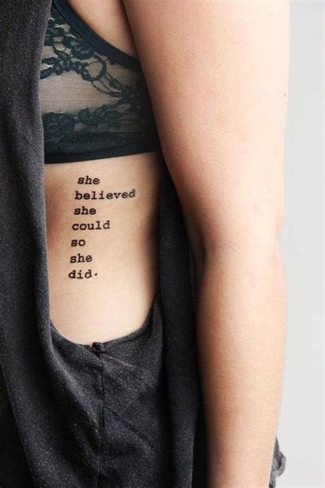 side quote tattoos quote for side rib