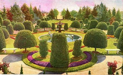 Wattles Garden Park by Wattles Mansion Formal Garden Circa1907 Los Angeles