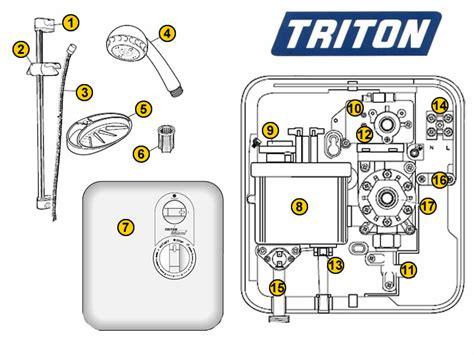 Triton Miami Shower by Triton Miami Shower Spares And Parts Triton Miami