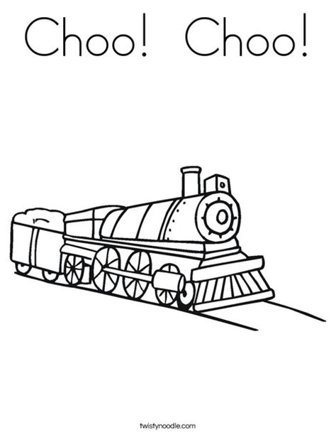 choo choo coloring page twisty noodle