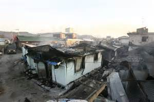 north korea houses smoke smoulders from houses destroyed by artillery shells fired by north korea abc