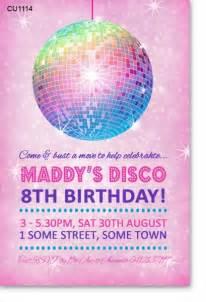 cu1114 disco birthday invitation birthday invitations birthday