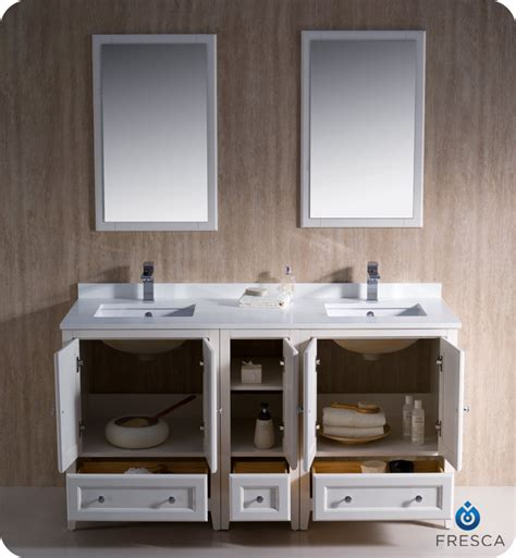 """60"""" Fresca Oxford (FVN20 241224AW) Traditional Double Sink"""