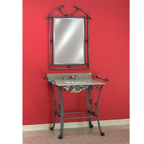 Wrought Iron Bathroom Vanities by Bathroom Vanities Wrought Iron Vanity Console 105 By