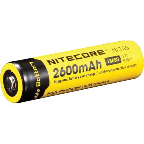 Nitecore 18650 Baterai Li Ion 2600mah 3 7v Nl1826 Promo nitecore 18650 li ion rechargeable battery 3 7v 2600mah nl186