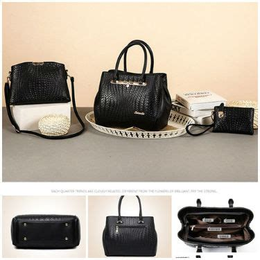 Black Set 3in1 jual b1974 black tas import set 3in1 grosirimpor