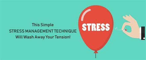 simple stress management technique  wash  tension