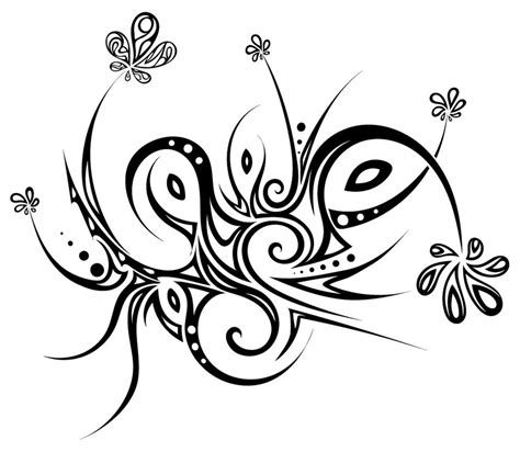 tribal flowers by dessins fantastiques on deviantart