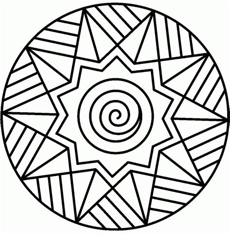 Free Printable Mandalas For Kids Best Coloring Pages For Kids Coloring Pages Simple