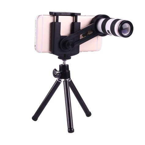 Tripod Iphone 5 12x magnification lens mobile phone 3 in 1 telescope tripod mount mobile phone clip for