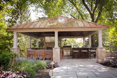 Luxury Backyard Pavilion Design Ideas From Lancaster Backyard Pavilion Ideas