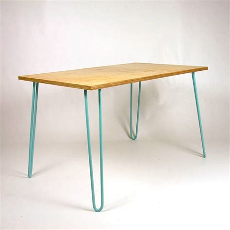 dining table industrial hairpin legs plywood by cord