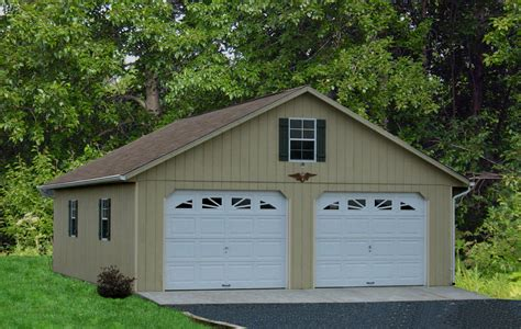 build 2 car garage detached two car garage prices from amish pennsylvania