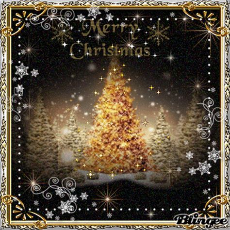 merry christmas gold black white picture  blingeecom