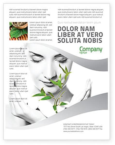 biography brochure templates bio cosmetics flyer template background in microsoft word