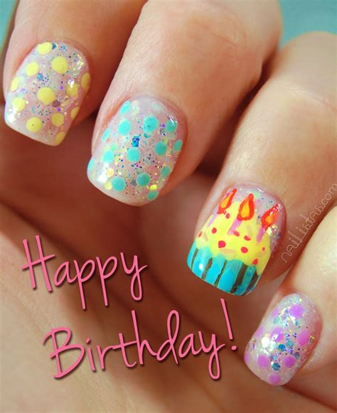 17 best images about nails birthday on birthday nail birthdays and coral cupcakes 16 best images about happy birthday on nail show and birthday nail