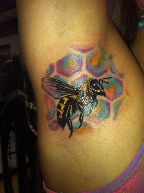 underarm tattoo pinterest love colors honey bee armpit tattoo candy color
