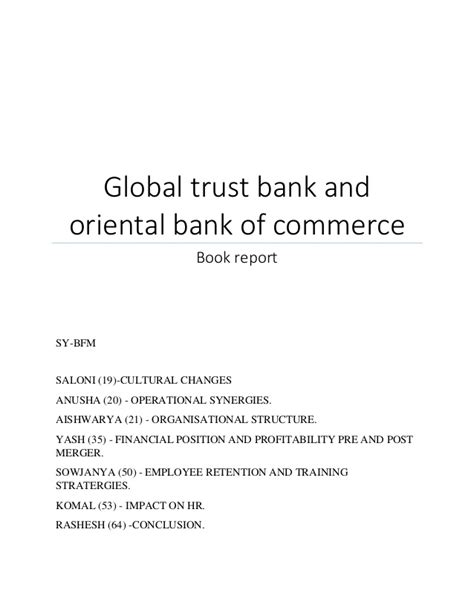 bank of commerce and trust global trust bank and bank of commerce