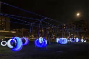 boston swings swing time glowing swings in a grown up playground