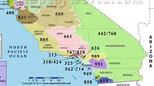 area codes in california