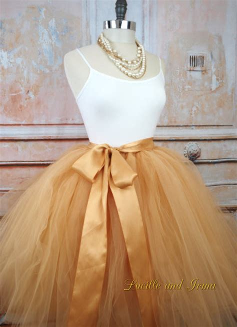 Tutu Bed Skirt Tulle Gold by Gold Tulle Skirt Sewn Tutu Tulle Gown In Knee Tea Or