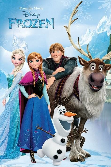 frozen cast wallpaper poster quadro frozen lakeside em europosters pt