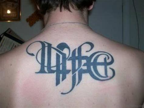 51 rare ambigram tattoos on back