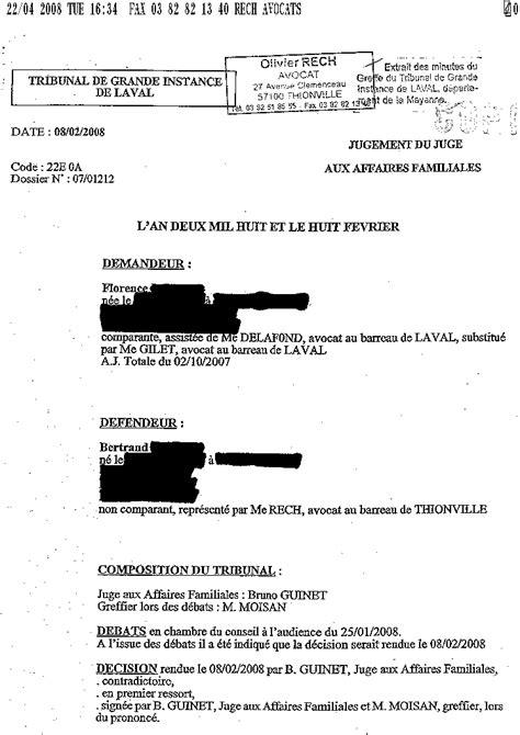 Modèles De Lettre Au Jaf Modele Lettre Jaf Document