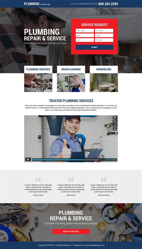 Best Plumbing Services by Best Landing Pages To Promote Your Plumbing Services