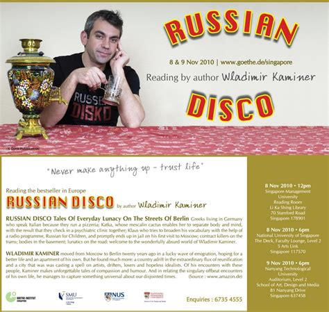 wladimir kaminer russian disco die deutsche sph 228 re russian disco reading by author