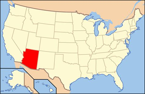 arizona state in usa map file map of usa az svg wikimedia commons