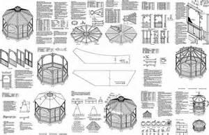 Gazebo Blueprints Plans by Screened Gazebo Plans Gazebo Antique