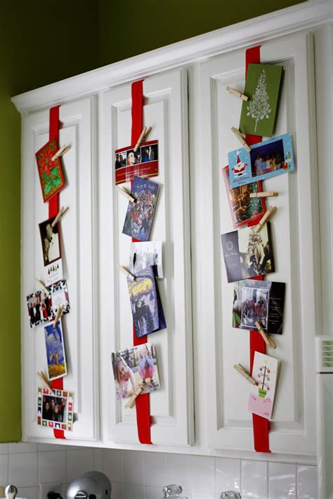 how to display christmas cards creative christmas card display ideas hip2save