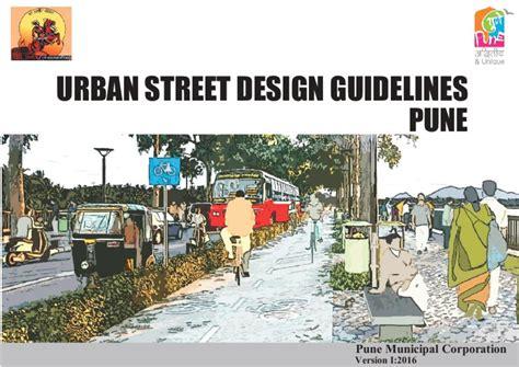 design elements pune urban street design guidelines pune smartnet