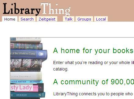 Library Thing by Book Mount Aspiring College Library