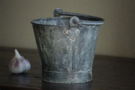 small child size antique small child size galvanized metal pail