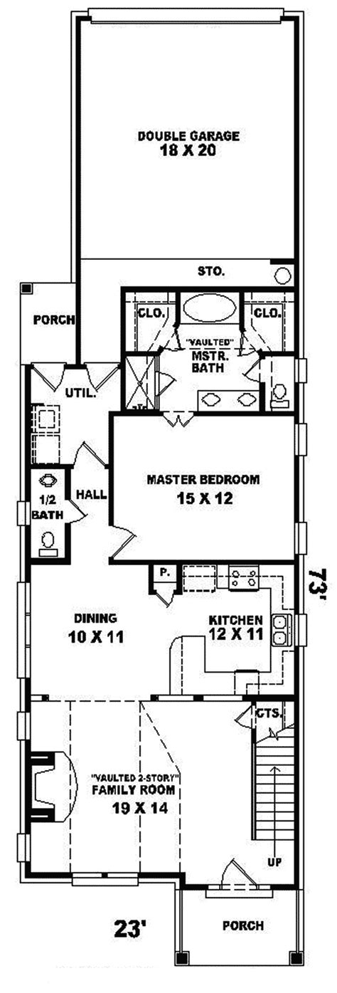 narrow lot house plans with rear garage havercliff narrow lot home plan 087d 0100 house plans