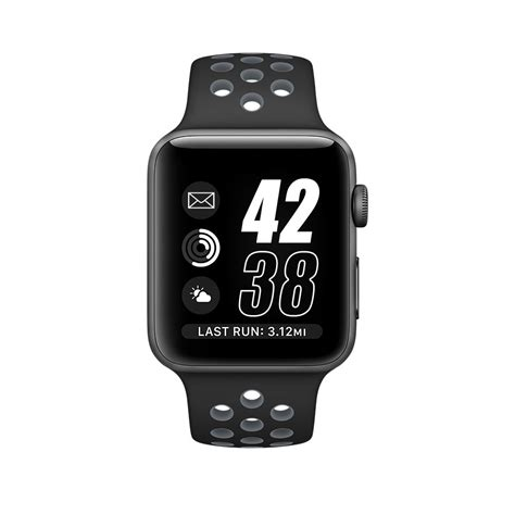 Nomad Sport Apple 42mm Band Silicone Black Grey מוצר 42mm 38mm for apple series 2 sport band black gray silicone for apple band