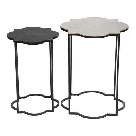 accent table black brighton accent table black white 405007 zuo modern