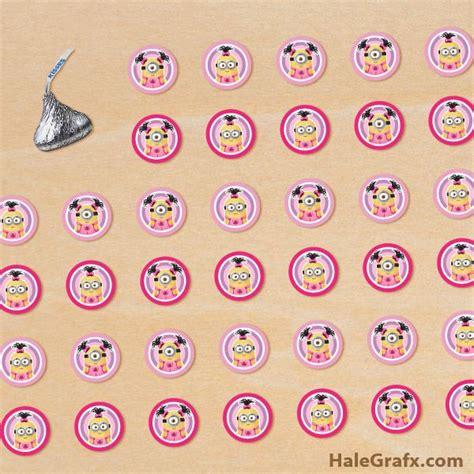 printable kiss stickers free printable girl minion hershey s kisses stickers