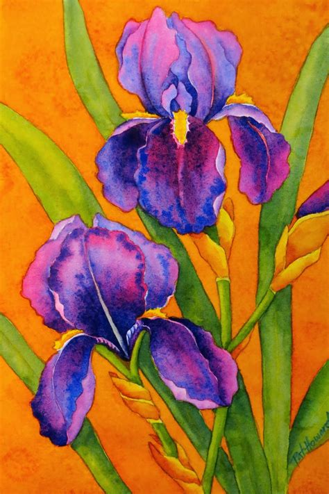 watercolor tutorial iris the painted prism watercolor workshop painting bearded