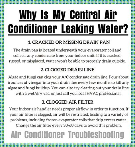 air conditioner leaking water in house removeandreplace com
