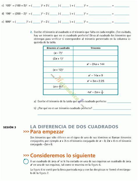 libro matemticas 3 secundaria contestado 2015 matematicas iii tercero de secundaria ejercicios