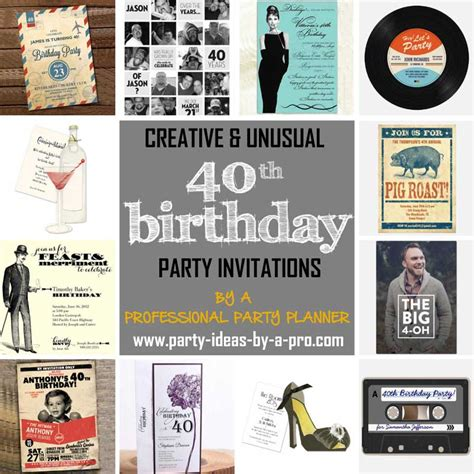 40th birthday invitation sles the best 40th birthday invitations by a professional planner