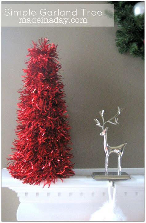 garland tree christmas pinterest